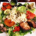 Mix de ensalada con arroz integral! Gigante y buenísimo