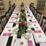 Table set for bridal shower