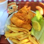 Fish sandwich lacks seasoning & Cup of Orange Water