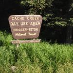 Cache Creek sign in Bridger-Teton National Forest
