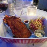 Côte de porc marinée