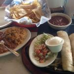 The taco combo with chicken and beef...this place is bangin!