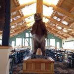 The restaurant, inside and out. Great view of Denali National Park.