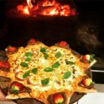 Pizza com borda Sol, recheado com chocolate!