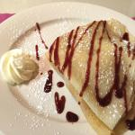 Crepe at Cafe Saint-Amand