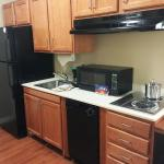 Kitchenette with full size refrigerator