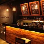 Fresh-ground and fresh-brewed coffee matched with great food and desserts in a cool place.