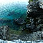 Colours of Lake Huron are ethereal near the Grotto