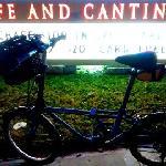 Enjoy using a bike basket for picking up take out