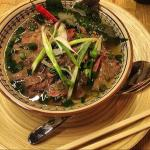 A hearty Pho Bo on a rainy day��