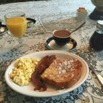 French Toast, Eggs, and Bacon for Breakfast