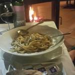 Main meal, futticine, beef fillet and cream, Fillet good, pasta tasteless