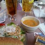 chicken wing soup & salad bar