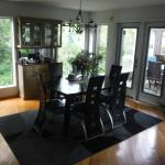 One of the breakfast sitting areas, just outside is another breakfast sitting area