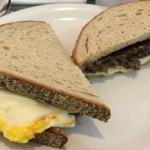Egg, Scrapple, Cheese on Rye $4.95