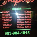 Sunday - closes at 9PM.  NOT 8:30 :-(