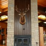"The ""showstopper"" piece of decor in the lodge lobby!"