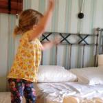 Child enjoying the room