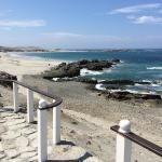 el mar y la playa desde el hotel