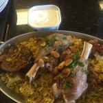 Monday special maghloobi with either lamb shank or chicken.  Delish!