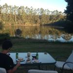 Dinner with the lake