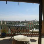 You can see the Atlas Mountains in the distance when your on the terrace