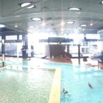 Pool and exercise room. They also sauna.