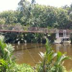 Hanging bridge leading to the the area where the first mass in the Philippines was supposedly he