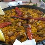 Paella valenciana para dos