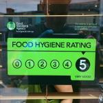 We have a 5 hygiene rating for our premises