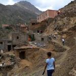 Trekking through Abdou's village