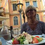 Rest. Le Clemenceau, Vence - the starter dish has arrived