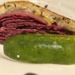 GRILLED PASTRAMI & SWISS on cissel with Zaftigs mustard.