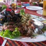 Sea-food platter, good choice!