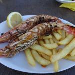 excellent fresh king prawns
