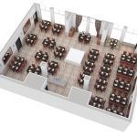 Floor Plan of Deerfields Restaurant