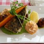Dagens varmrätt kött och fisk till lunch