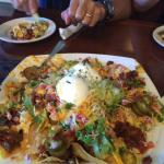 Loved the vegetarian nachos!