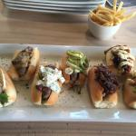 Platter of mini borrowers rolls with various fillings/toppings.
