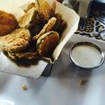 fried pickles, had a gross brown oil coming from them