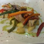 Atún con patatas y verduras