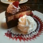 Flourless chocolate and raspberry cake