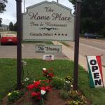 The welcoming sign