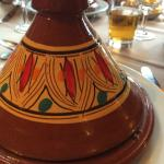 Tagine dish and lovely beer