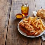 Our most popular dinner! 4 Piece Supreme with Seasoned Fries and FREE Legendary Iced Tea!