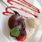 House dessert - chocolate fondant