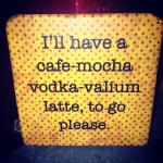 Coffee coaster at checkout
