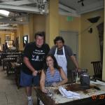 Owner/Chef Mateo with my wife and I.