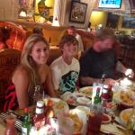 Our Family eating at El Cerro Grande