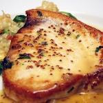 Swordfish over risotto